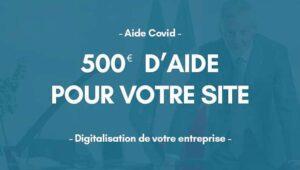 Modalités d'accès à l'aide de 500€ pour votre site web